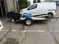 1 Flatbed and 1 Utility Trailer for Sale