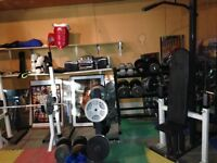 Loads of great fitness and weight training equipment