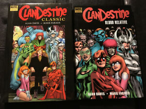 Alan Davis's Clandestine (Marvel) - lot of 2 Premiere Hardcovers