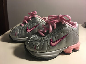Brand new Nike Shox - silver and pink size 3