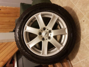 "17"" Rial FL757 5x120 Rims, Tires, and TIre Pressure Sensors"