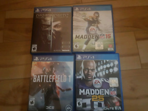 Ps4 games 15$ each or trade