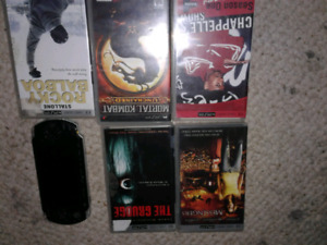 PSP with 5 movies