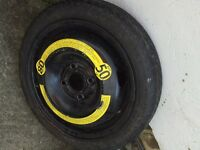Spare wheel space saver tyre 14""