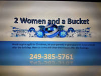 2 women and a bucket