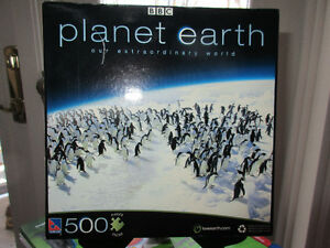 500 Piece Planet Earth Puzzle - Pole to Pole (Penguins)  NEW!!