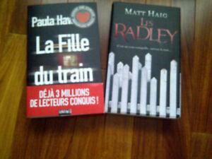 2 LIVRES NEUFS: LA FILLE DU TRAIN + LES BRADLEY