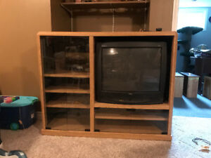 Free cabinet and old tv