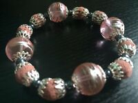 Bracelet(pink glass beads)
