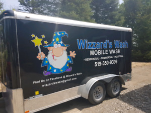 Complete mobile power washing system