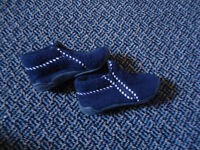 Boys Size 9 Toddle Navy Zip Up Soled Slippers