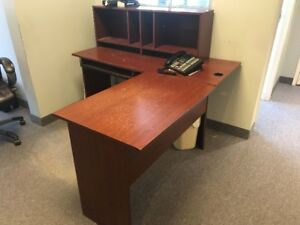 Corner Desk with Hutch for Home or Office