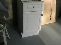 """White cupboard with drawer 15""""w x 21"""" 3/4d x 30""""h"""