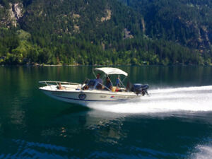 boat for sell 18ft fish-ski 115hp four stroke Yamaha