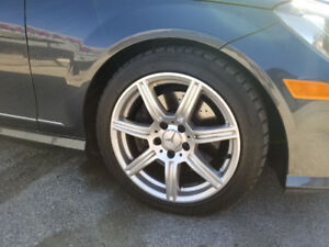 Winter tires and replica rims for Benz C300
