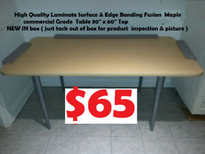 "NEW IN BOX Desk / Table 30"" x 60"" Maple commercial Grade"