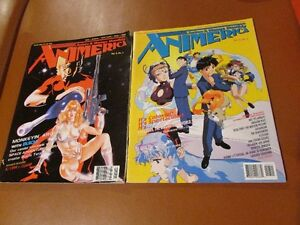 Two issues of ANIMERICA magazine anime and manga
