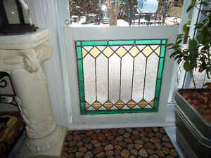 Antique Stained Glass window (27x26)