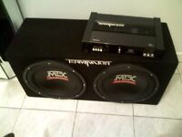 Mtx terminator subs box and amp $225 or trAde for iphone 5 or 5c