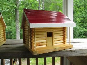 log cabin bird houses