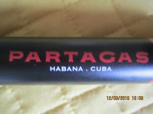 8 Partagas Aluminum Tubes for your premium Cigars