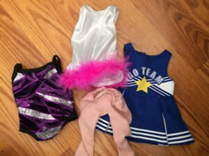 Small 18inch Doll Dance Outfits Lot