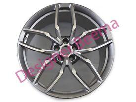 Lamborghini Huracan Mimas Silver Rear Alloy Wheel Rim