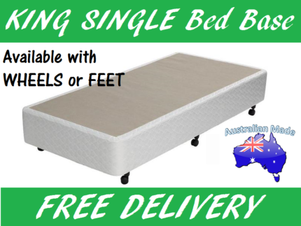 KING SINGLE Size Ensemble Bed Base Australian Made Delivered FREE