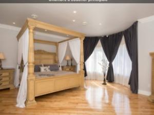 NegociableSet de chambre bois massif et marbre