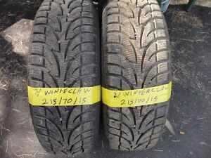 2 WINTER TIRE 215/70/R15 90% TREAD CALL 519-760-2400