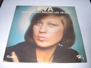 Eva - Où s'en vont mourir les rêves (1970) LP Vinyl Français