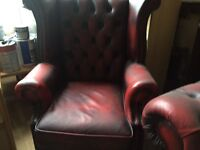 3 piece leather Chesterfield suite