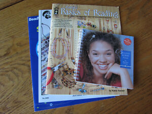 4 Beaded Jewellry Instructional Books - great for kids & adults!