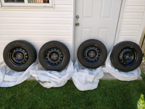 Michelin X-Ice Winter Tires with Rims-Used One Season Only