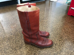 Tan Leather Frye Boots - Made in USA