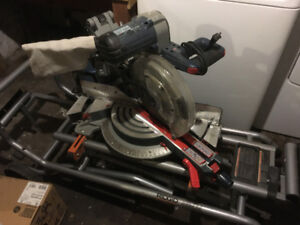 Bosch Miter Saw with Rigid MS-UV Cart
