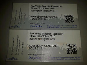 2 Tickets for Stéphanie St-Jean Kevin Bazinet Kiss ACDC