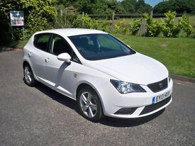 SEAT Ibiza 1.2 TSI DSG SE 105PS FULL SERVICE HISTORY STUNNING AUTOMATIC (white) 2013