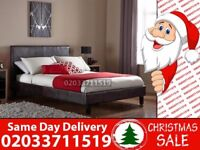 BRAND NEW SINGLE KING SIZE AND DOUBLE SIZE LEATHER BED Available With MATTRESS Irons