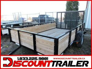 2019 Wooden high side 5X10 Trailer