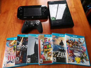 WII U + Pro Controller and Games (W/ The Legend of Zelda - Breat