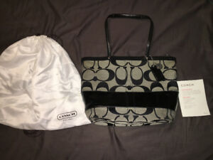 Authentic Coach monogram purse with dustbag