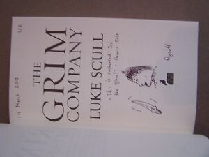GRIM COMPANY LUKE SCULL 1st/1st UK edition signed lined dated +