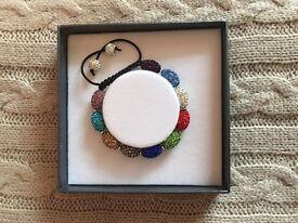 Crystal coloured bracelet