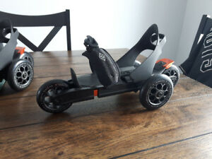3 wheeled skates by Cardiff Skate (they fit over your shoes)