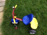 Radio flyer tricycle with parent assist