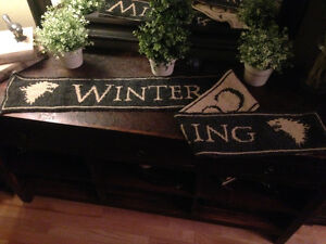 Game of thrones:Hand made double knit scarf