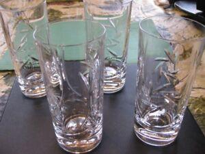 Pinwheel Crystal Hi Ball/Water Glasses - 4