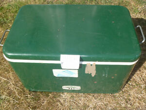 old Thermos metal cooler