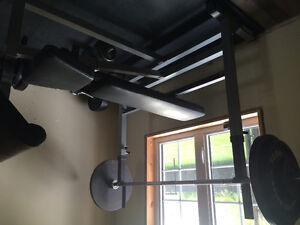Bench press inclinable